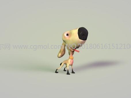 卡通小狗C4D模型