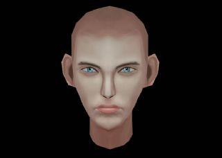 男人头部模型,手绘