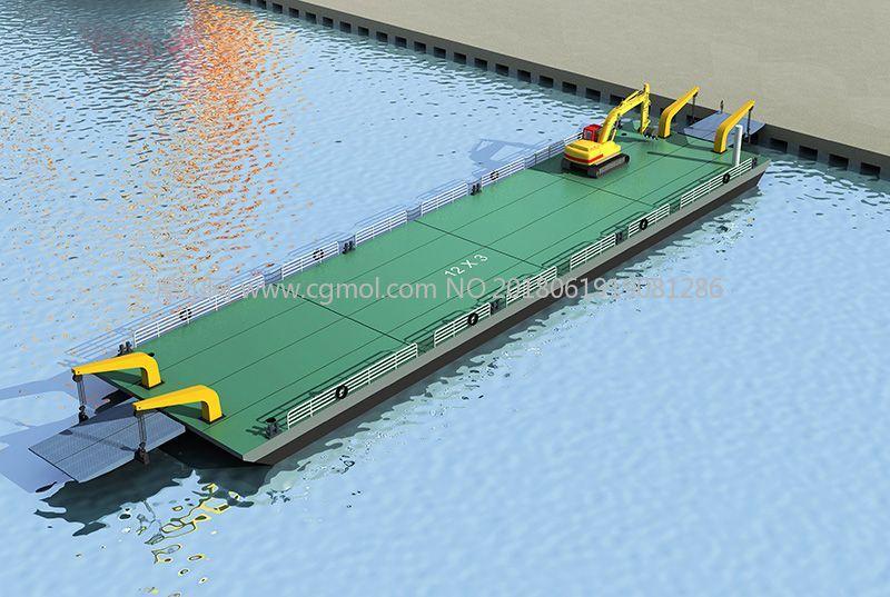 水上移动平台max模型