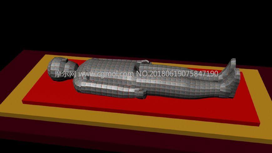 金缕玉衣,铠甲maya2009模型