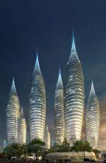 泰式螺纹造型商业楼群