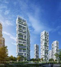阳光绿景概念小区,居民楼房(网盘下载)
