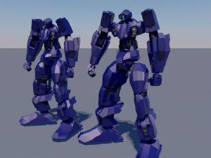 机器人C4D模型,带材质