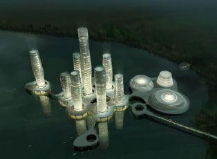 湖中心度假酒店设计