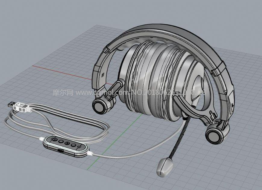可折叠USB耳机