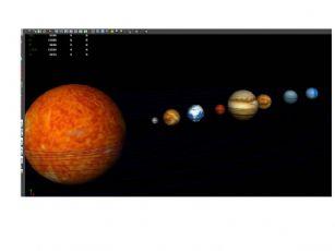 太阳系八大行星+太阳maya模型