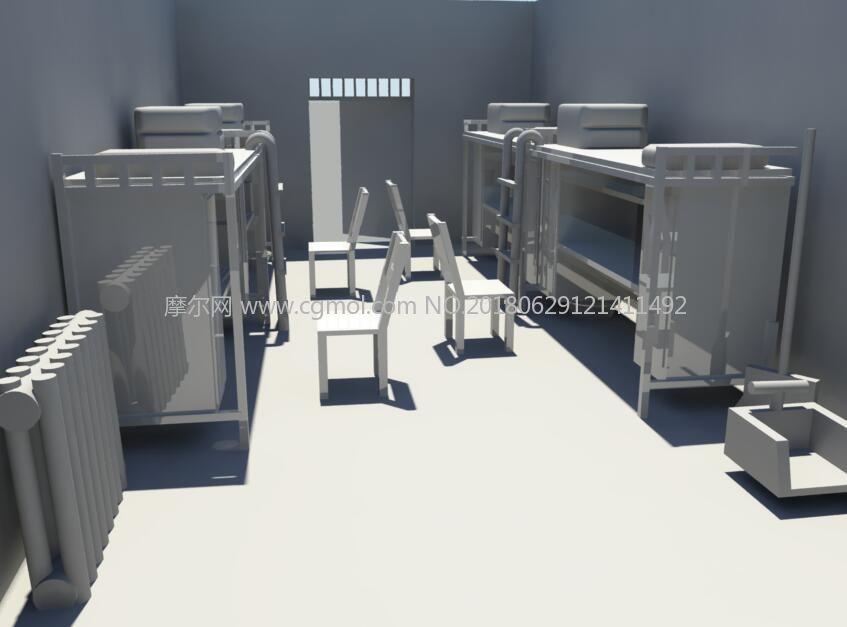 maya宿舍简单建模图片