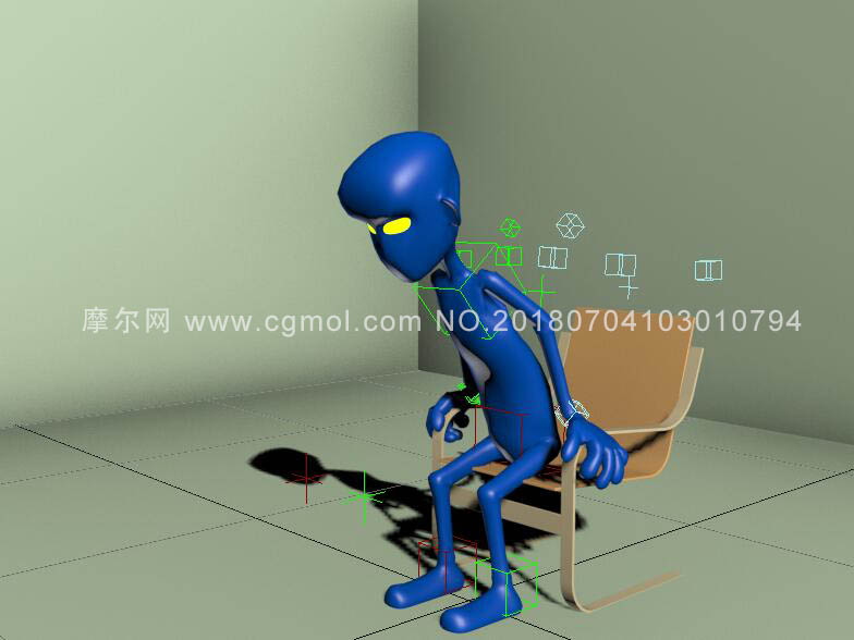 基本角色绑定max模型,行走,奔跑,跳等动作