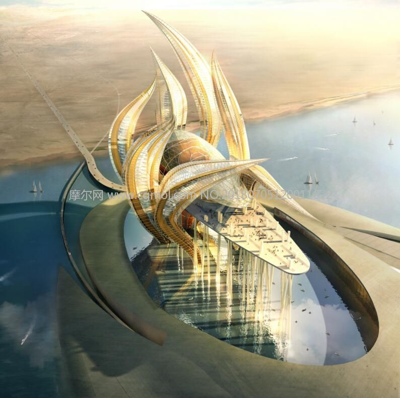 海边异形酒店设计