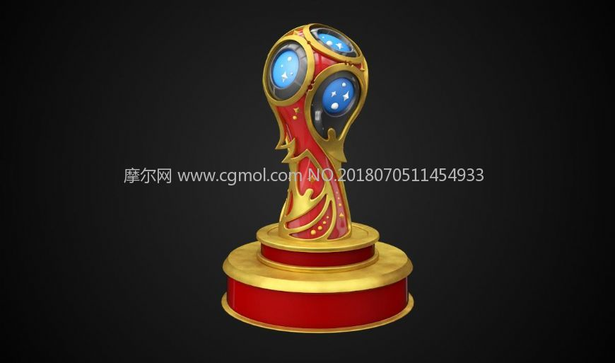 2018俄罗斯世界杯奖杯大力神杯