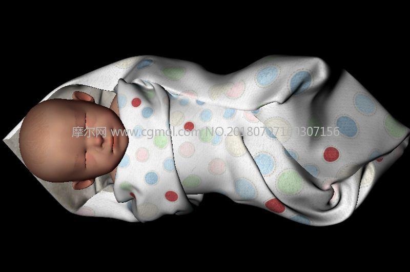 婴儿,宝宝模型,max,mb,fbx,obj格式