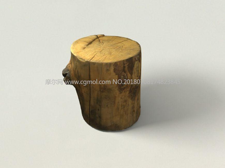 超写实高精度木头敦,2k贴图