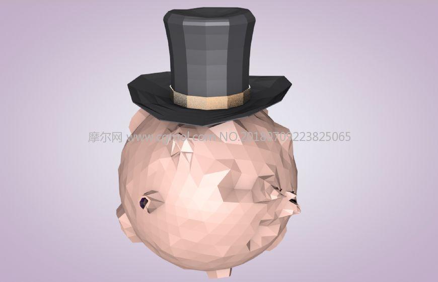 帽子星球C4D模型