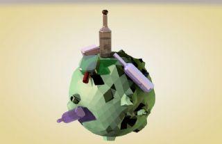 酒瓶星球C4D模型