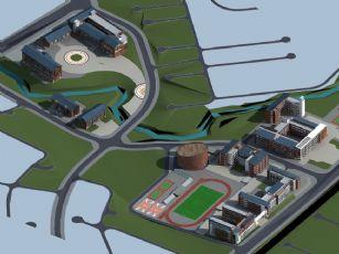 BBPHQ现代坡屋顶中小学方案