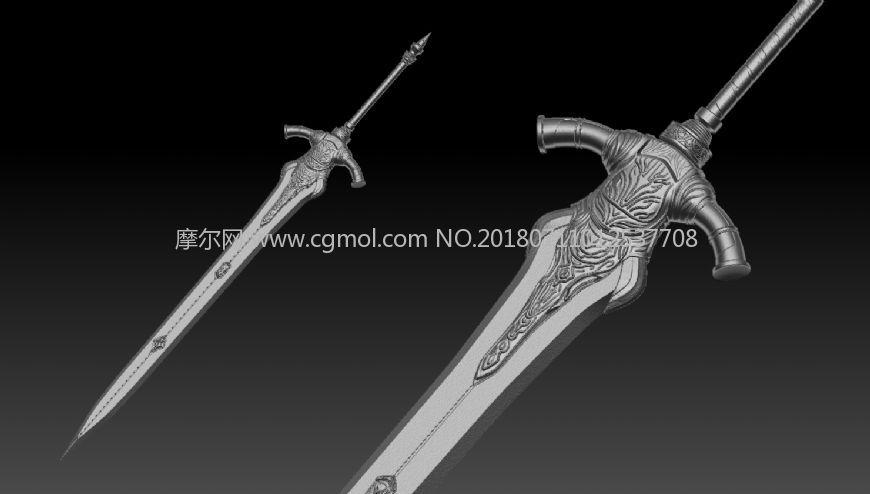 亚尔特留斯大剑obj模型