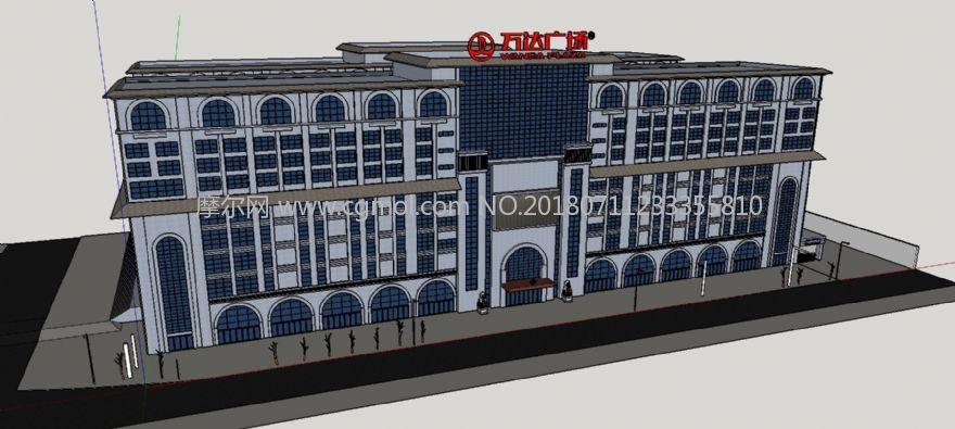 延安万达广场商场su模型