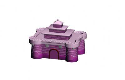 城堡卡通玩具