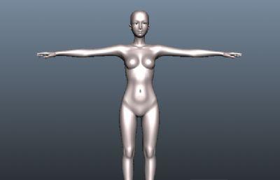 美女人体maya模型