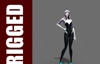 女蜘蛛�b漫威英雄ma模型