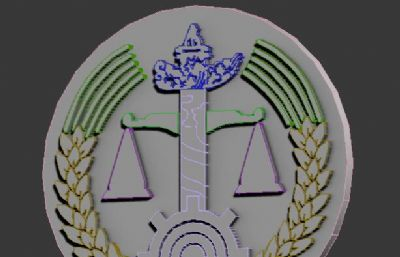 司法公平秤LOGO徽章