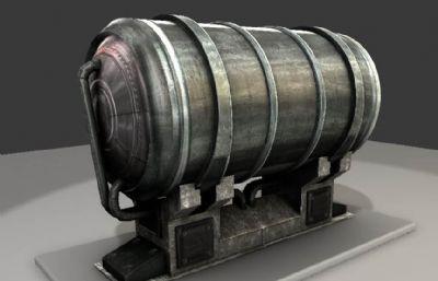 金属水箱FBX模型