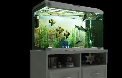 MAX鱼缸模型