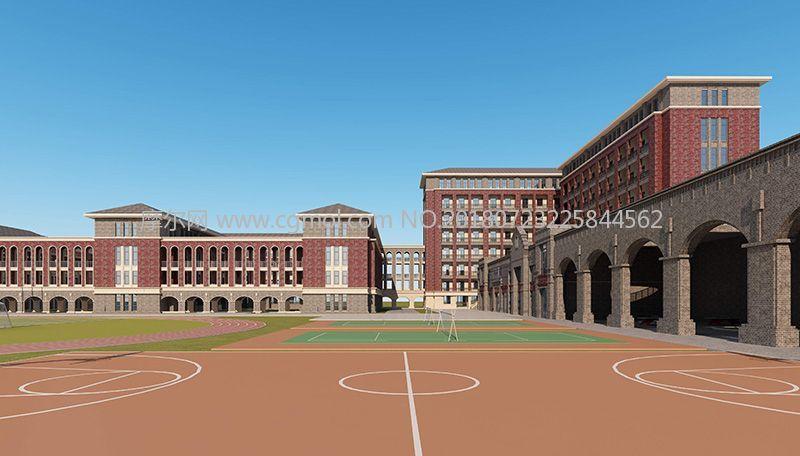 建筑模型 / 其他建筑 2501 1 报错 标签:英伦风格中学欧式小学学校图片