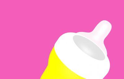 奶瓶C4D模型