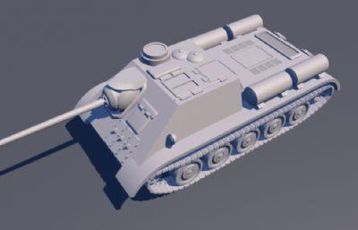 SU-85坦克C4D模型