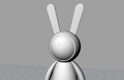 不二兔子stl模型
