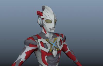 Ultraman X 艾克斯�W特曼官方游��obj模型