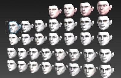 各种男人面部,人脸