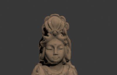 古代美女雕塑模型max2012模型