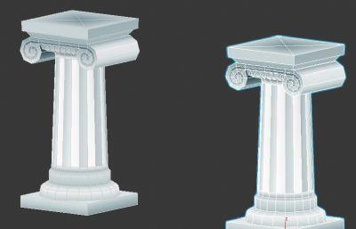 Q版可�凼ザ肥奎S金12�m圣域神殿柱Ionic柱