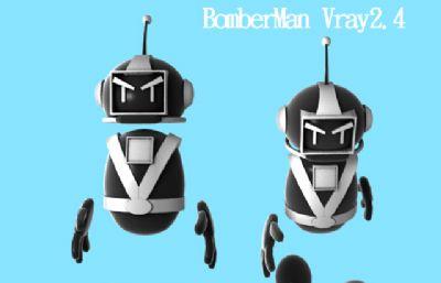 Bomberman炸��超人黑色
