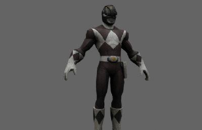 金刚战士Power Rangers黑衣战士