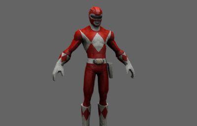 金剛戰士Power Rangers紅衣戰士