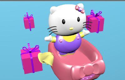 kitty�P蒂�C4D模型