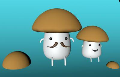 Q版蘑菇人