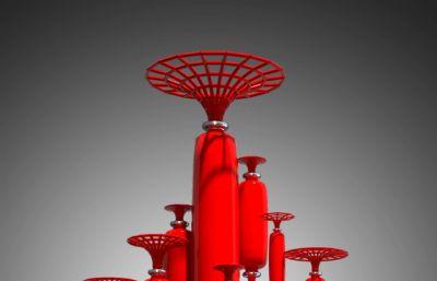 共铸辉煌圆柱型雕塑设计