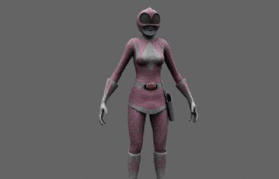 金刚战士Power Rangers粉红衣战士