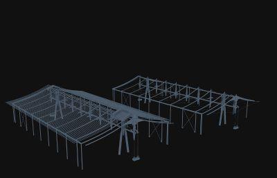 建筑龙骨max模型源文件