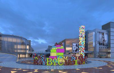 商�I街,城市�V�稣��w�O�max模型(�W�P下�d)