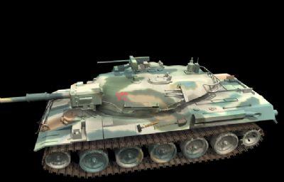 T74坦克�max模型
