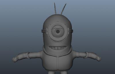小黄人maya模型,有mb,obj格式