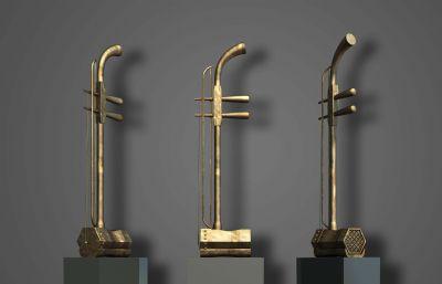 二胡,古典音乐学院雕塑设计