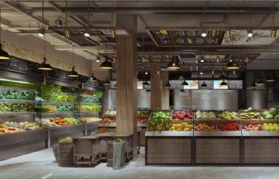 果蔬超市,生�r超市max模型(�W�P下�d)