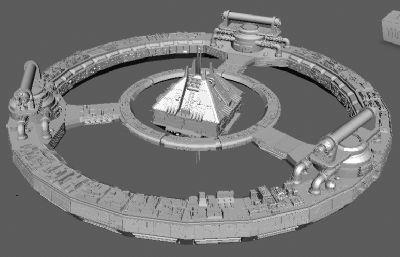 未�硖�空基地,�w行器maya模型