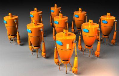 卡通拳��C器人部�maya模型,VRAY材�|